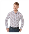 Perry Ellis Mens Gingham Paisley Button Up Shirt