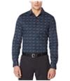 Perry Ellis Mens Paisley Button Up Shirt