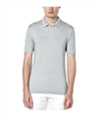 Perry Ellis Mens Jacquard Placed Rugby Polo Shirt