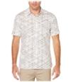Perry Ellis Mens Linear Button Up Shirt
