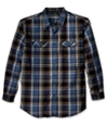 G.H. Bass & Co. Mens Mountian Twill Plaid Button Up Shirt