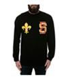 Black Scale Mens The Saint Varsity Ls Graphic T-Shirt