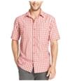 G.H. Bass & Co. Mens Performance Plaid Ss Button Up Shirt