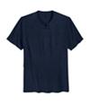 I-N-C Mens Mini Split V Neck Basic T-Shirt