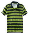 Aeropostale Mens A87 Textured Striped Rugby Polo Shirt 305 XS