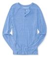 Aeropostale Mens Heathered Ls Henley Shirt