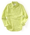 Aeropostale Mens Solid Oxford Button Up Shirt