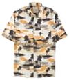 Tasso Elba Mens Tropical-Print Button Up Shirt