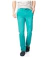 Aeropostale Mens Slim Straight Color Casual Chino Pants