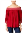 I-N-C Womens Off The Shoulder Pullover Blouse
