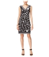 I-N-C Womens Abstract Zebra Sheath Dress