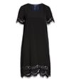 French Connection Womens Classic Crepe And Lace Tunic Dress