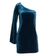 French Connection Womens Velvet A-Line Jersey Dress