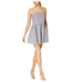 French Connection Womens Striped Baby Doll Mini Dress