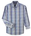 Tasso Elba Mens Sateen Plaid Button Up Shirt