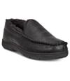 32 Degrees Mens Venetian Moccasin Slippers black XL