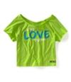 Aeropostale Womens Live Love Dream Graphic T-Shirt