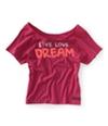 Aeropostale Womens Raglan Yoga Pajama Sleep T-Shirt