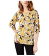 French Connection Womens Aventine Peasant Blouse