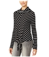 American Rag Womens Striped Knot Peasant Blouse