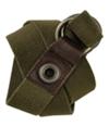 Aeropostale Mens Knit Olive Green Woven Belt