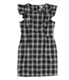 Bar Iii Womens Retro Flannel Shift Dress