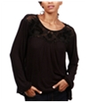 Lucky Brand Womens Contrast Tunic Blouse