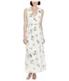 Lucky Brand Womens Silk-Blend Maxi Dress