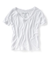 Aeropostale Womens Solid V-neck Graphic T-Shirt 102 L