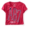 Aeropostale Womens Cropped A87 Athletics Graphic T-Shirt