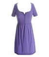 Aeropostale Womens Ribbed 3/4 Sleeve Sundress