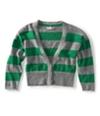 Aeropostale Womens Cropped Stripe Cardigan Sweater 361 L
