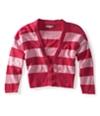 Aeropostale Womens Cropped Stripe Cardigan Sweater 662 L