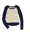 Aeropostale Womens Baseball Popover Pullover Sweater
