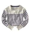 Aeropostale Womens Long Sleeve Opposite Stripe Knit Sweater lighties L