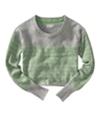 Aeropostale Womens Long Sleeve Opposite Stripe Knit Sweater