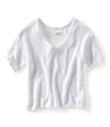 Aeropostale Womens Ss Cropped Eyelet Knit Sweater 102 L