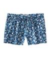 Aeropostale Womens Floral Print Waistie Casual Mini Shorts navyniblue M