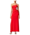 City Studio Womens Solid Gown One Shoulder Dress