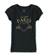 Aeropostale Girls Je Taime Glitter Graphic T-Shirt