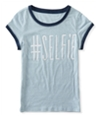 Aeropostale Girls Glitter Selfie Embellished T-Shirt