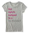 Aeropostale Girls Spirit Animal Graphic T-Shirt