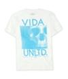 Ecko Unltd. Mens Neon Vida Skull Vinyl Graphic T-Shirt