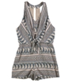 Tags Weekly Womens Tie Front Romper Jumpsuit