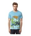 Buffalo David Bitton Mens Nitide Palm Tree Graphic T-Shirt