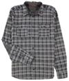 Buffalo David Bitton Mens Sitroll Chambray Plaid Button Up Shirt