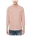 Buffalo David Bitton Mens Check Print Button Up Shirt
