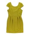Bar Iii Womens Classic Ribbed A-Line Dress