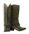 Candie's Womens Buckle Strap Riding Boots cacaymanstone 5.5