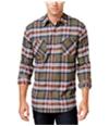 Weatherproof Mens Vintage Plaid Flannel Button Up Shirt